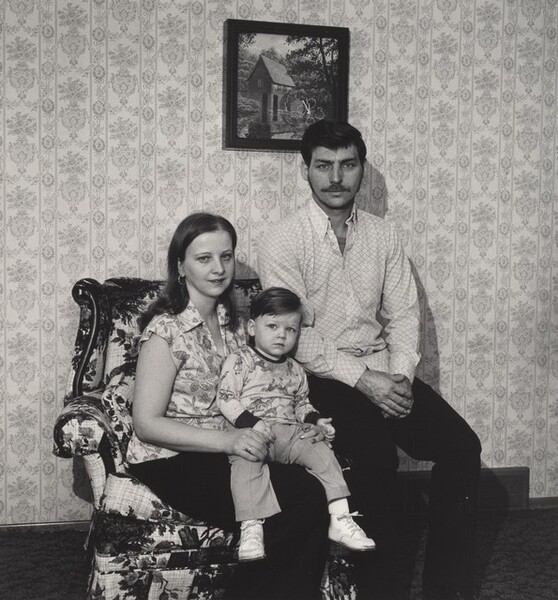 Ralph Coxson with his Wife and Son, Shenango Ingot Molds (Working People series)