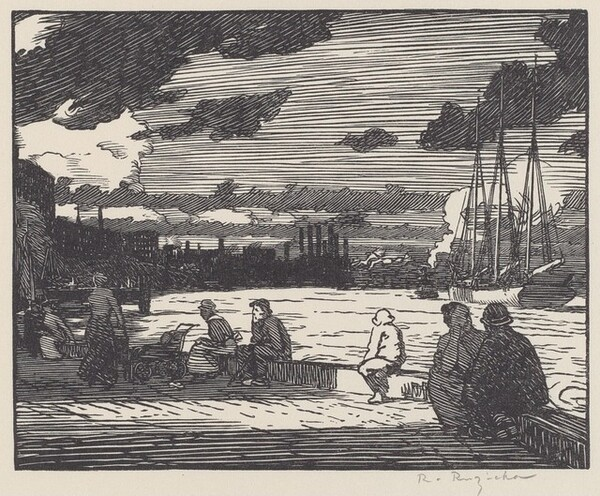 East River, Evening