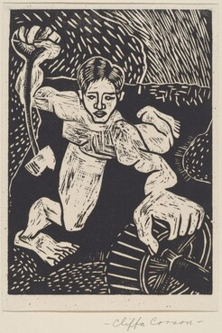 Untitled (Figure, Wheel)