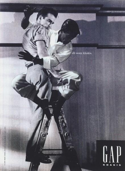 Sammy Davis Jr. Caressing Montgomery Clift on a Ladder Proof #1
