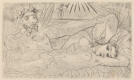 Drinker Caressing a Reclining Woman