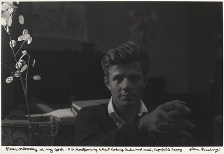Peter Orlovsky in my room 1010 Montgomery Street looking tender and mad, hopeful & happy.