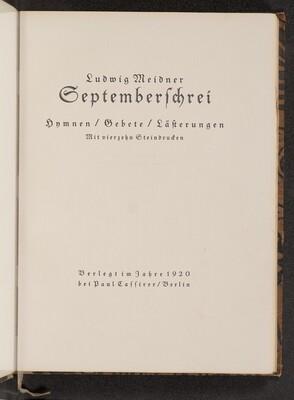 Septemberschrei (September Cry)