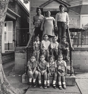 Puerto Rican Couple with Nine Children (Lower West Side series)