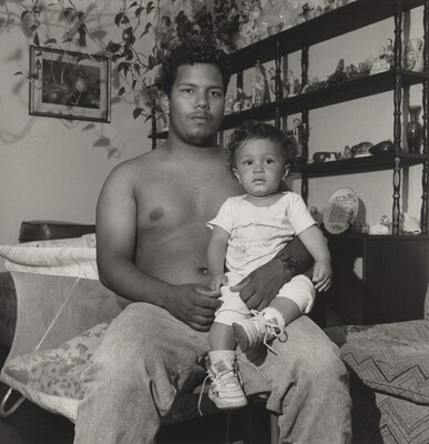 "Robert ""Chino"" Montalvo and Baby (Lower West Side series)"