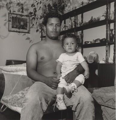 "Robert ""Chino"" Montalvo and Baby (Lower West Side series)"