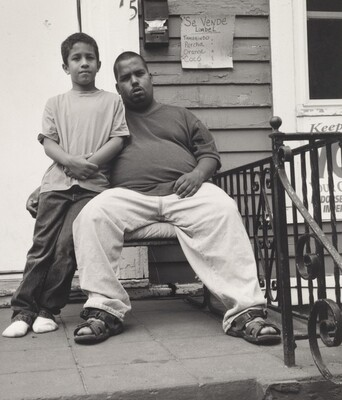 """Robert """"Chino"""" Montalvo and Son (Lower West Side series)"""