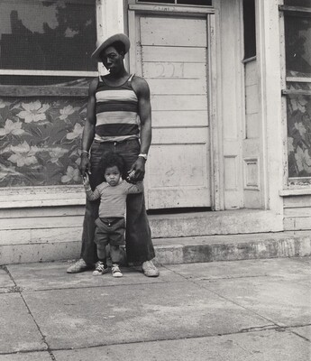 Jimmy Webster with His Father, Vern Webster (Lower West Side series)