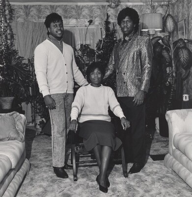 Milton Rogovin, Doris McKinney with Her Two Sons, Republic Steel (Working People series), 1987