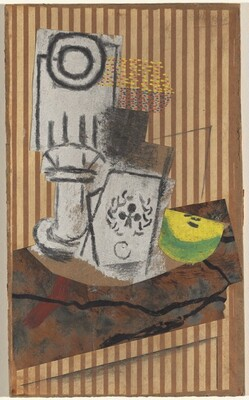 Still Life with a Glass and Ace of Clubs
