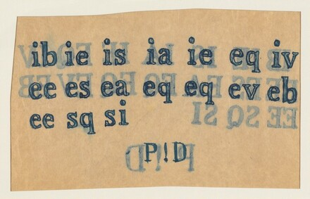 Untitled (P ! D) (verso)