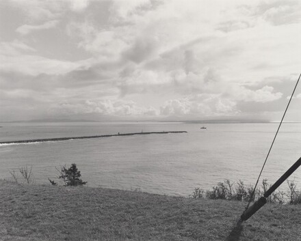 Southeast from Cape Disappointment, in Washington, across the Columbia River to Oregon