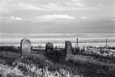 Summer, early morning; an immigrant cemetery. North of Bethune, Colorado