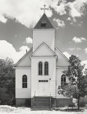 Catholic church, summer. Ramah, Colorado