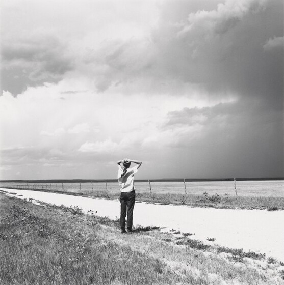 Robert Adams, Kerstin enjoying the wind. East of Keota, Colorado, 1969, printed c. 19771969, printed c. 1977