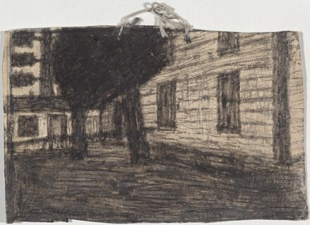 Untitled (Tree and Farm Building)