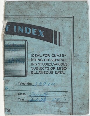 Untitled (Loose Leaf Index Book)