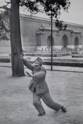 Soldier Practicing Tai Chi, Beijing, China