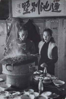 Colonel Prow and Girlfriend Cooking, Beijing, China