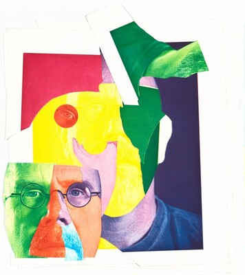 Self-Portrait (collage made from discarded cut-up proofs)