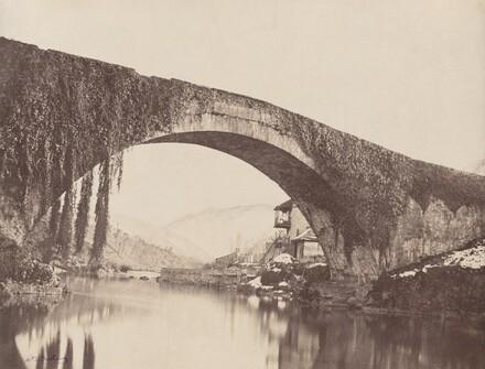 Pont de L'estelle sur le gave, près Bétharram, Basses Pyrénées (The Estelle Bridge on the Gave, near Bétharram, Basses-Pyrénées)