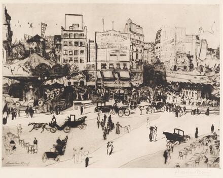 Place Blanche à Montmartre