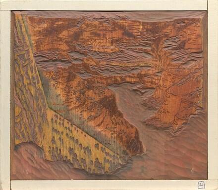 Bright Angel Trail [woodblock no. 4]