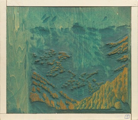Bright Angel Trail [woodblock no. 5]