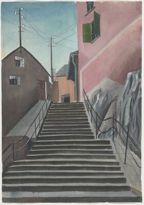 Untitled (Stairs in a Town)