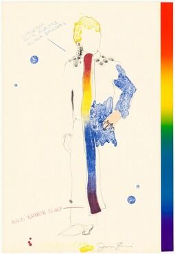 Dorian Gray with Rainbow Scarf