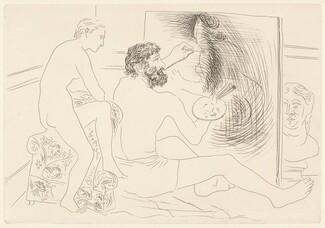 Peintre au travail observé par un modèle nu (Painter at Work Observed by a Nude Model)
