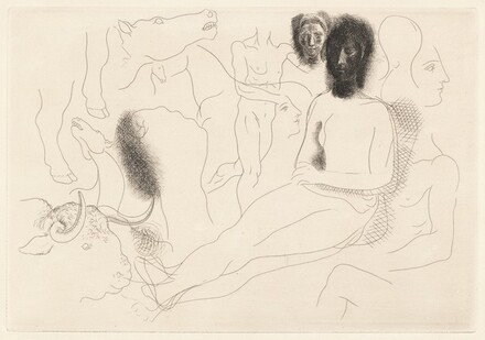 Nu assis et esquisses... (Seated Nude and Sketches...)