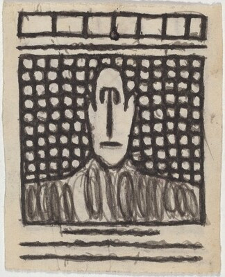 Untitled (Man on Patterned Background) [verso]