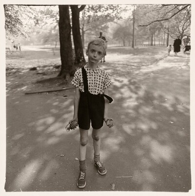 Child with toy hand grenade, N.Y.C. 1962