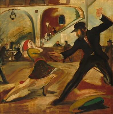 Apache Dancer (Bleecker Street Tavern Mural)