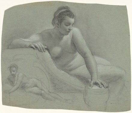 Studies of Reclining Female Nudes [recto]