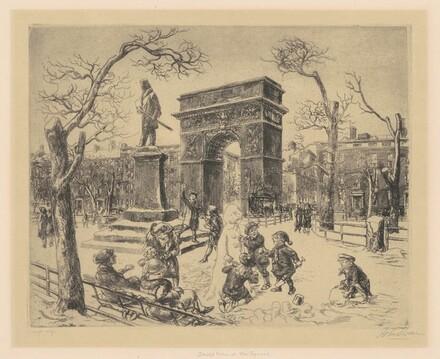 Sculpture in Washington Square