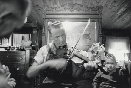 Farmer Playing Fiddle, North Georgia