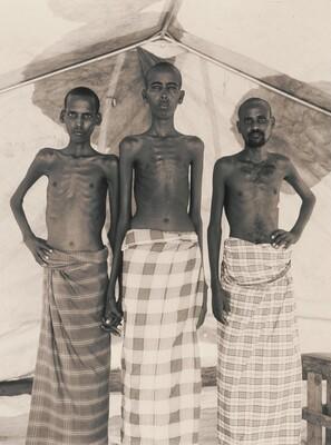 Mohammed Omar Gudle, Hussein Dahir Hassan and Abdul Rehman Ibrahim, Tuberculosis recovery ward, Somali refugee camp, Mandera, Kenya