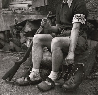 WWII, August 1944, Shoes Dropped by Allies Behind the Front Line to Fighting