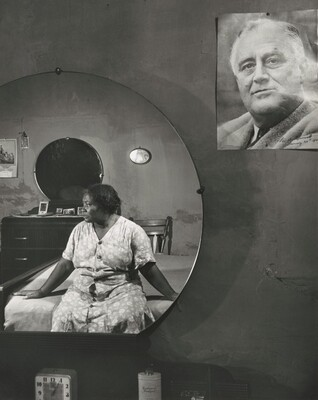 Gordon Parks, Washington (southwest section), D.C. Negro woman in her bedroom, November 1942November 1942