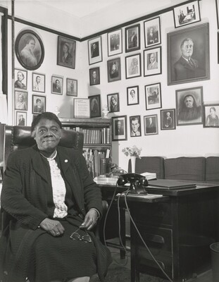 Daytona Beach, Florida. Bethune-Cookman College. Dr. Mary McLeod Bethune, founder and former president and director of the NYA (National Youth Administration) Negro Relations