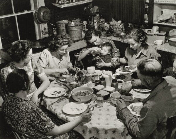 Dinner Time at Mr. Hercules Brown's Home, Somerville, Maine