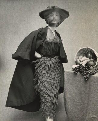Sheath cocktail dress by Cristobal Balenciaga, Paris, France