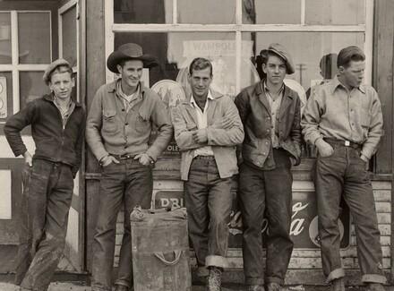 Drug store cowboys. Black Diamond, Alberta, Canada