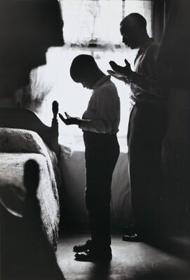 Evening Prayer, Muslim Father and Son, New York