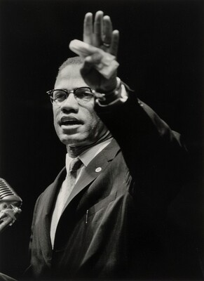 Malcolm X Addressing Black Muslim Rally in Chicago