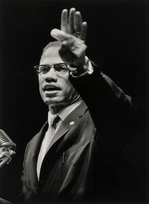 Malcolm X Addressing Black Muslim Rally in Chicago