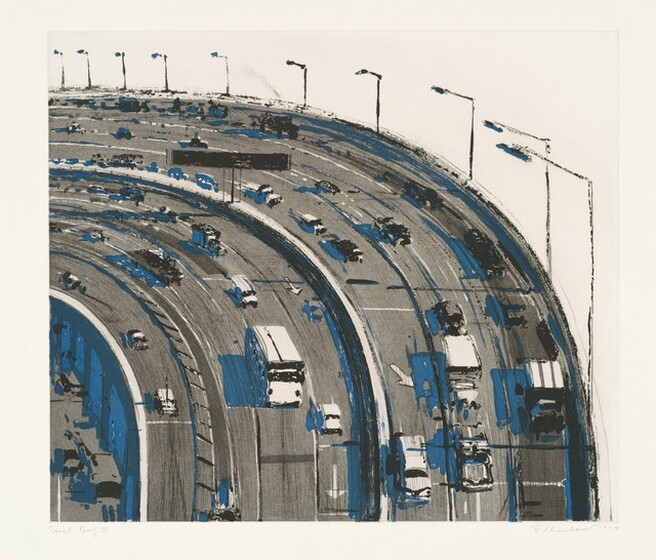 Wayne Thiebaud, Freeway Curve, 1979