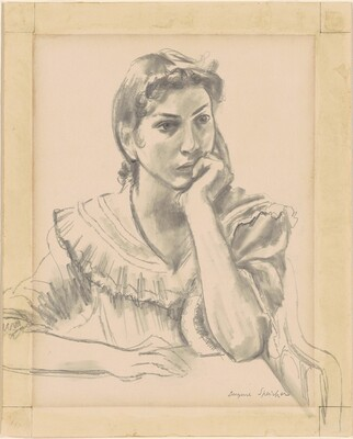 Seated Female Figure Resting Chin on Hand